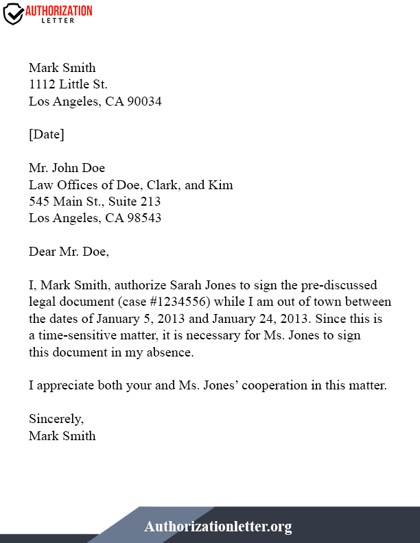 Authorization Letter To Represent On Behalf Of Company from authorizationletter.org