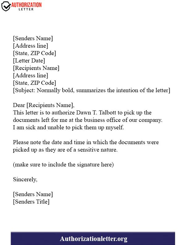 Agent Authorization Letter
